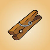 Clothes peg — Stock Vector