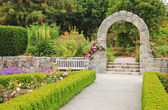 Garden archway — Stock Photo