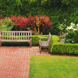Garden benches — Stock Photo