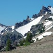 Stock Photo: Snowy mountain peaks