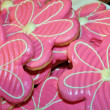 Stock Photo: Pink flower cookies
