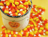 Halloween candy corn — Stock Photo