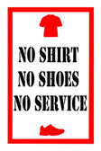 No shirt no shoes sign — Stockfoto