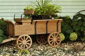 Dřevěný vůz — Stock fotografie