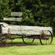 Stock Photo: Vintage manure spreader