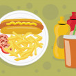 Stock Photo: Delicious unhealthy fast food