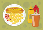 Delicious unhealthy fast food — Stock Photo
