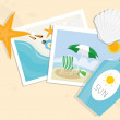 Stock Photo: Still life on summer beach