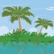 Landscape with tropical island — Stock Photo