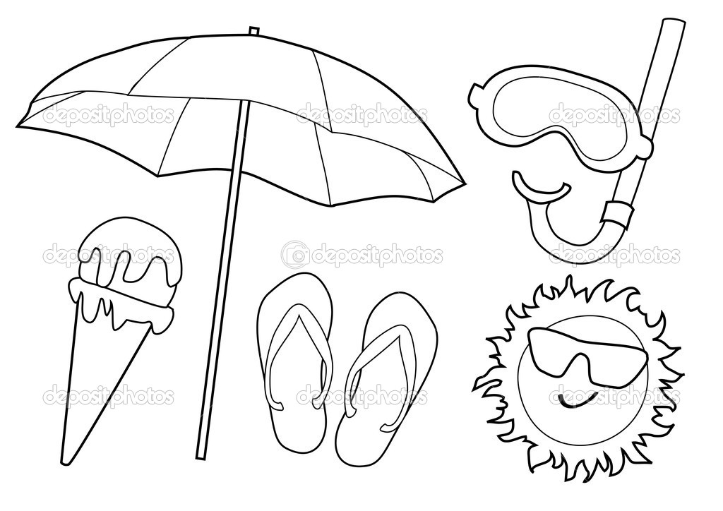 ocean beach coloring pages - photo#48