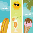 Summer food banners — Stock Photo