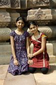 Sisters at Historical Place — Stock Photo