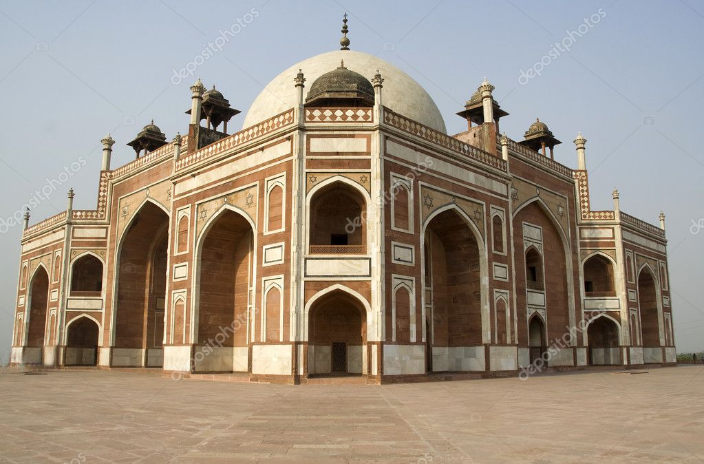 Grandeur of Historical monument Humayun's Tomb at New Delhi, India, Asia — Stock Photo #6405159