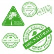 Vetorial Stock : Green grunge rubber stamp - set