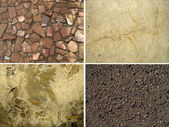 Set of stone textures — Stock Photo