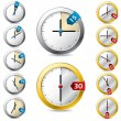 Stock Vector: Set of vector timer design