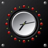 Cool technology design vector clock — Stock Vector