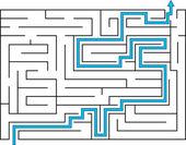 Labyrint med väg ut — Stockvektor
