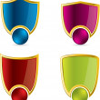 Royalty-Free Stock Vector Image: Various color shield designs