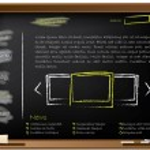 Website template design on blackboard — Stock Vector