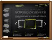 Diseño de plantillas web en pizarra — Vector de stock