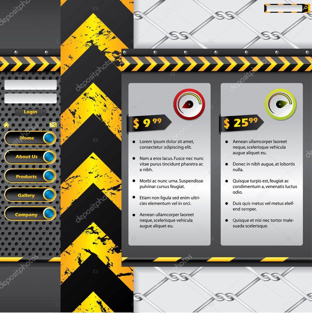 Industrial website design stock vector vipervxw 6438284 for Industrial design sites