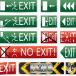 Various exit signs — Stock Vector