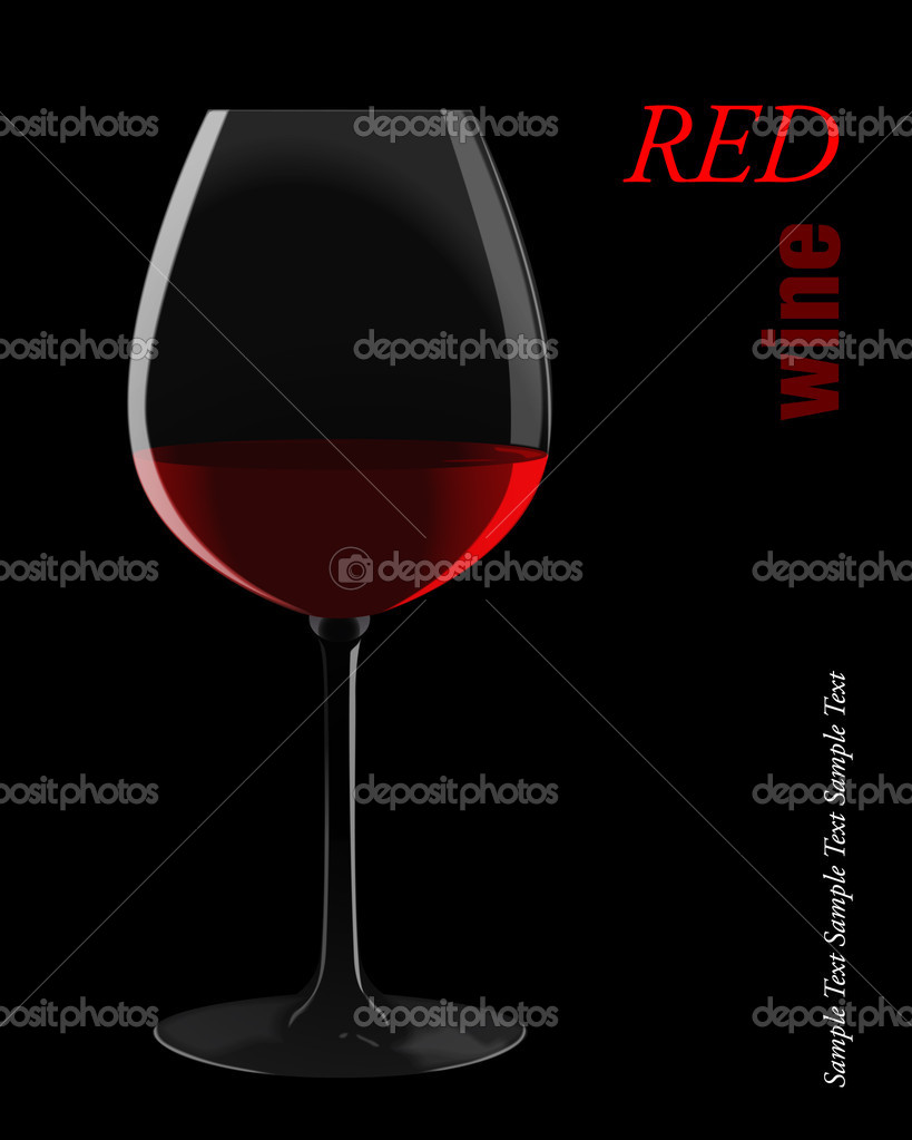 Glass of red wine. Vector illustration. — Stock Vector #5655307