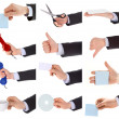 Hand gestures set — Stock Photo