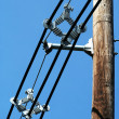 Telephone pole with wires — Stock Photo #5519431