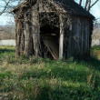 Old wooden shed - Stock Photo