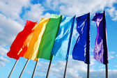 Colored flags — Stock Photo