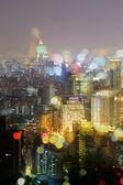 Färgstarka staden natt — Stockfoto