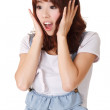 Surprised young girl — Stock Photo