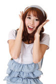 Excited young girl — Stock Photo