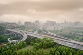 Bad weather cityscape — Foto Stock