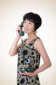 Mature elegant Asian woman — Stock Photo