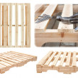 Stock Photo: Manufacture of wooden platforms