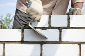 Construction of brick — Stock Photo