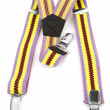 Stock Photo: Kids colored suspenders