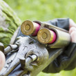 Hunter charges gun — Stock Photo #5984142