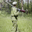 Stock Photo: Shooter in camouflage