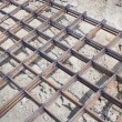 Stock Photo: Lattice of rebar