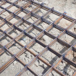 The lattice of rebar — Stock Photo