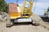 Powerful diesel crane — Stock Photo