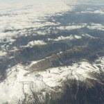 Flight over Alps — Stock Photo
