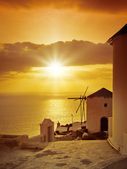 Santorini sunset — Stock Photo