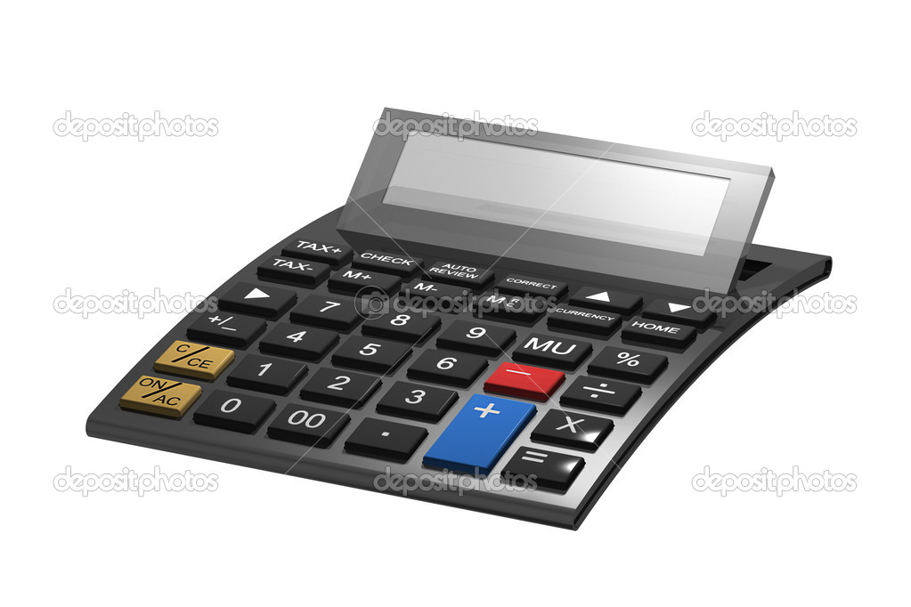 A typical calculator with space for your content — Stock Photo #5740465