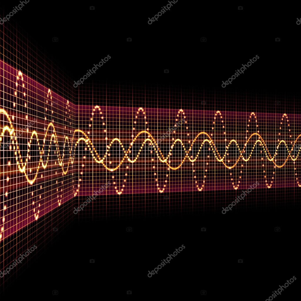 An image of a nice sound wave background  Stock Photo #5821990