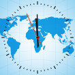 Stock Photo: World clock